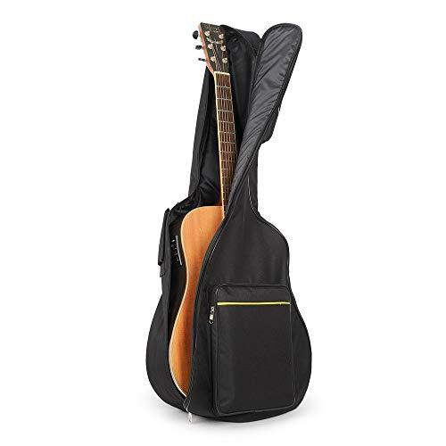 UBEGOOD Gitarrentasche, Guitar Soft Case Oxford Wasserdicht Stoßfest gepolsterte Gitarrenhülle für 41 zoll Akustikgitarre und Klassikgitarren - Schwarz