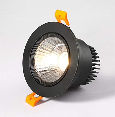 Downlight LED empotrable superbrillante COB 3W 5W 7W 12W Lámpara de techo de decoración LED AC 220V-Warm_white_3W