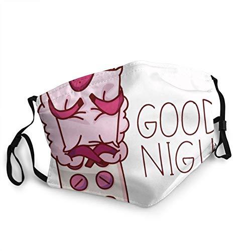 Niedliches Schlafendes Schaf-Poster, Kleidung, Gesundheitswesen, medizinische Gesichtsmasken für Erwachsene, wiederverwendbar, atmungsaktiv, verstellbar, waschbar