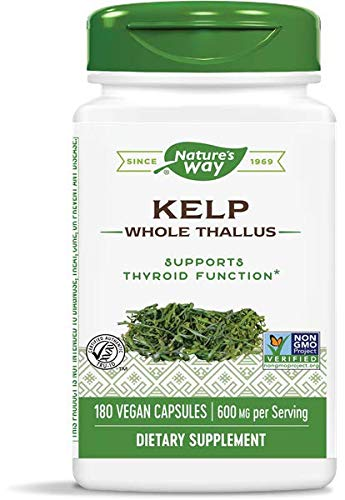 Natures Way Kelp 600mg,180 VCaps (Pack of 3)