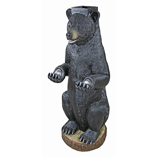 """Design Toscano KY1887 Postal Bear Mail Post Sleeve Statue, 16.5"""" Wx16.5 Dx43 H 30 lbs, Full Color"""