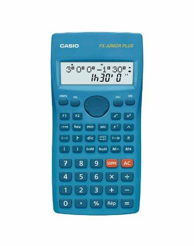 Casio FX Junior Plus Calculatrice scolaire 2 lignes 15 caractères