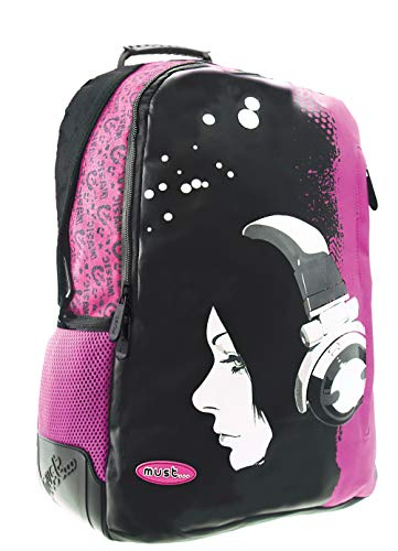 MUST Girl with Mochila Energy Headphones 33x16x45 cms, Color (Multicolore), 16x45x33 Centimeters (W x H x L) (579515)