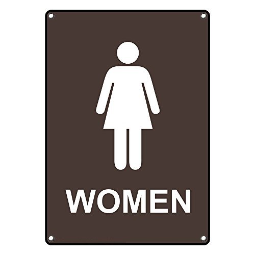 Weatherproof Plastic Vertical Women New sales Restroom English Sign T with 2021 autumn and winter new