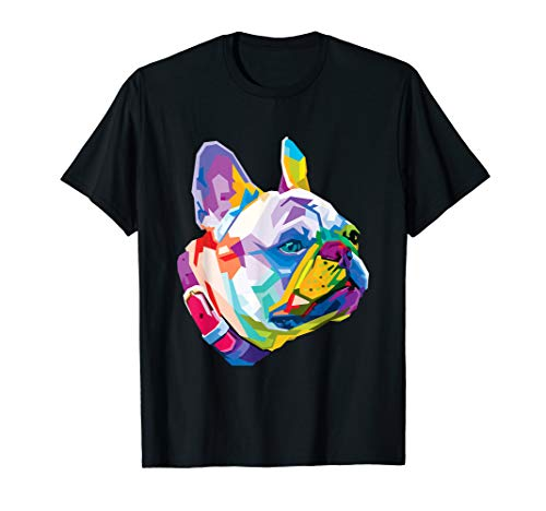 Colorful French bulldog Cute Geometric Dog pop art syle T-Shirt