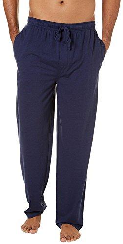 SGNOIEY Men's Pajamas Pants,100% Knit Cotton Sleep Long Lounge Pants-Blue XL