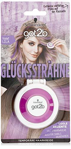 SCHWARZKOPF GOT2B Glückssträhne, Haarfarbe Violet Lila, 1er Pack (1 x 3,5 g)