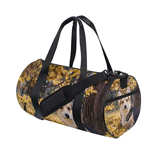 Gym Sports Bag Welsh Corgi Dog Travel Duffel Bag for Men and Women