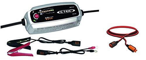 CTEK MXS 5.0 Autobatterie-Ladegerät mit automatischem Temperaturausgleich, 12 V + Verlängerungskabel