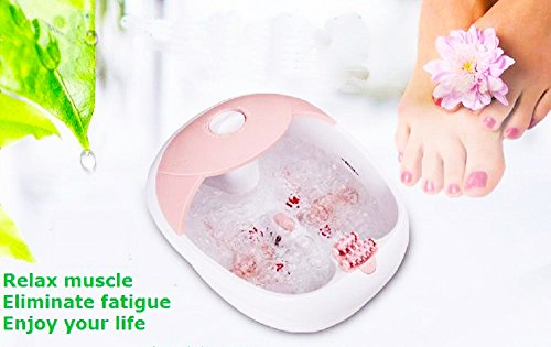 All in one foot spa bath massager w/heat, HF vibration, O2 bubbles red light FB10