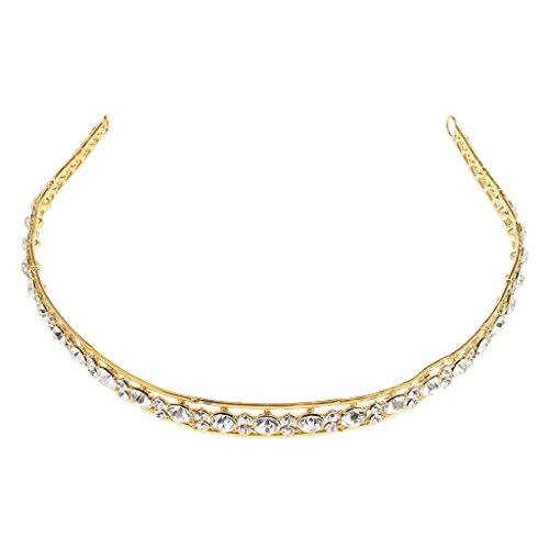 Glänzende Braut Haarschmuck Haarreifen Braut Krone Kopfschmuck, Perfekt passt an jede Hochzeitkleid und Abendkleid - Goldene A