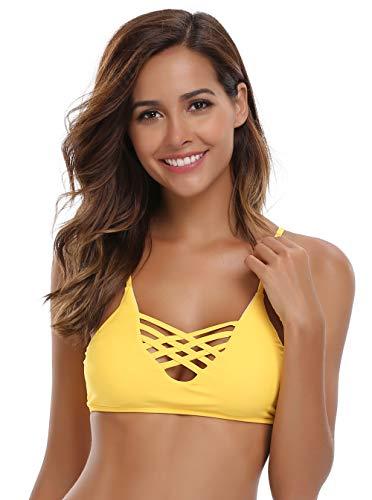 SHEKINI Mujer Conjunto de Bikini de Dos Piezas Almohadillas Bañador Estampar Trajes de Baña