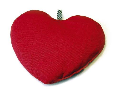 SISSEL Cherry Kirschkern Säckchen, Herzform 21x21cm, rot, Wärmflaschen, Getreide- und Kirschkernkissen