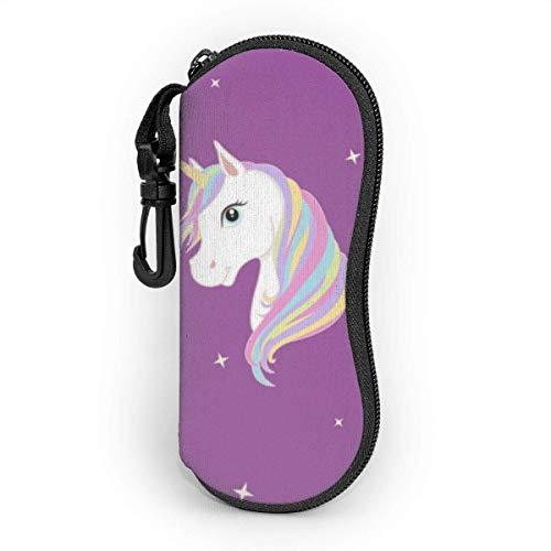 VimcustomPr Funda para gafas de sol de caballo, resistente al agua y duradera, portátil, con cremallera, de neopreno, con mosquetón