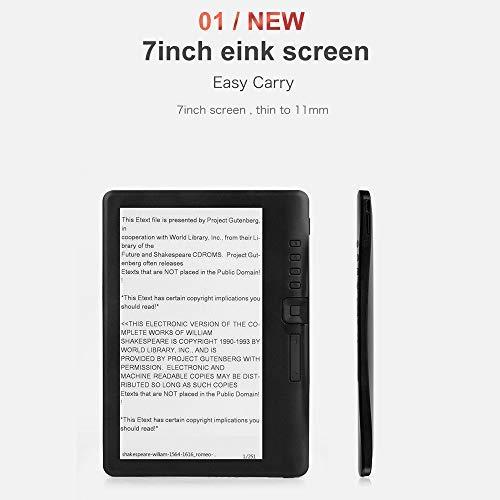 OURLITIME Paperwhite, lettore e-book da 7 pollici con schermo a colori impermeabile, 8 GB e-Book Reader con video MP3 Music Player
