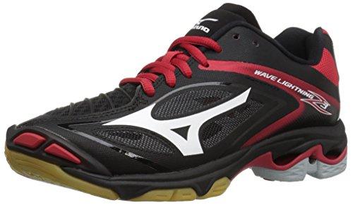Mizuno Women's Wave Lighting Z3 Volleyball Shoe,Black/Red,13 B US