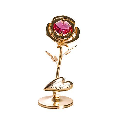 Longwin Cristal Plaqué Or Rose Ornement de Saint Valentin Cadeau