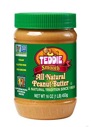 Teddie All Natural Peanut Butter Smooth 16Ounce Jar Pack of 4
