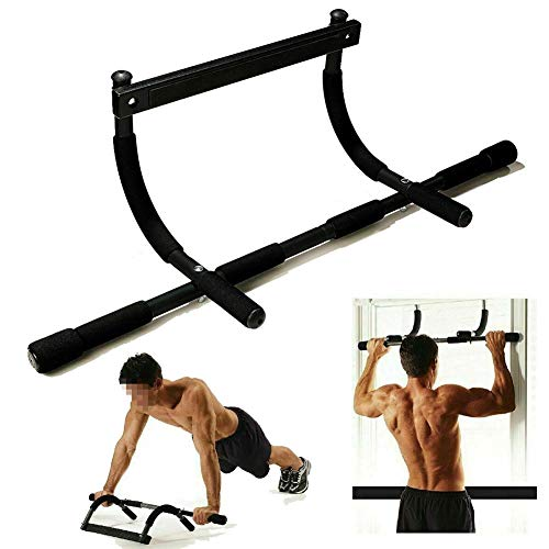 Pull Up Bar Adult Push Up Stands Push-Ups Chin Up Bar Chin Fitness Bar Door Pull Rod Multifunctional Portable Gym Arm Trainer Home Gym,Black
