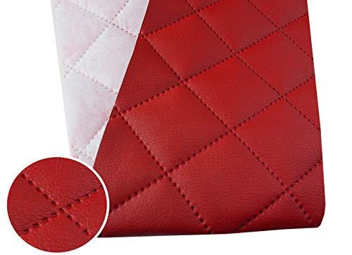 Tukan-tex (9,8€/m) Kunstleder Gesteppt Möbel Textil Meterware Polster Stoff PU - Möbelstoff (Rot 960)