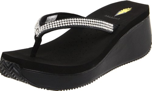 Volatile Women's Corrine Thong Sandal,Black,6 B US
