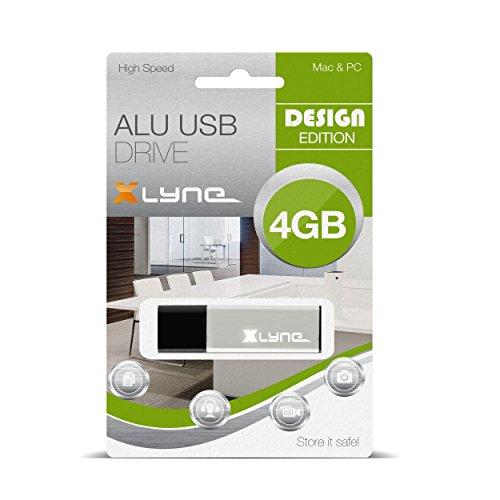 XLYNE 4GB USB-Stick 2.0 ALU High Speed, Design Flash Laufwerk