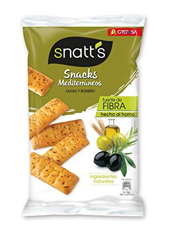 Grefusa - Snatt's | Snacks Mediterráneos - Palitos de Pan con olivas y romero - 110 gr