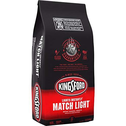 Kingsford 32090 Match Light Charcoal Briquettes, 12 lb, Black