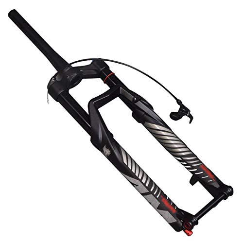 Zatnec Bicycle Suspension Front Fork 27.5 Inch Mountain Bike Front Fork 29 Inch Wire Control Spinal Canal Stroke 140mm (Size : 29inch)