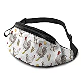 XCNGG Bolso de Cintura Corriente Bolso de Cintura de Ocio Bolso de Cintura Bolso de Cintura de Moda Hen Farm Casual Waist Bag For Men Women Running Travel Fashionable Fanny Pack