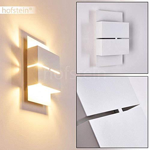 LED Außenwandleuchte Tidon, Wandlampe aus Stahl in Weiß, Gartenbeleuchtung 2 x 2,5 Watt, 360 Lumen, 3000 Kelvin (warmweiß), moderne Wandleuchte mit Up&Down-Effekt, IP44