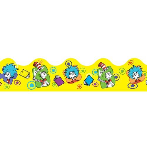 Eureka Yellow Dr. Seuss 'Cat in The Hat' Bulletin Board Trim and Classroom Decoration for Teachers, 12pc, 3.25'' W x 37'' L