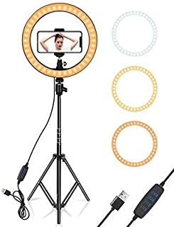 SAIELLIN 18 inch Selfie Ring Light with Tripod Stand and Phone Holder | 3 Light Modes Brightness Level| Dimmable LED Camera Ring Light for YouTube Video Live Stream Tiktok Makeup (18 Inch)