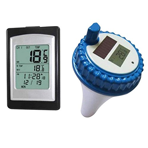zreal Wireless Solar Power Floating Pool Thermometer Digital Schwimmbad Spa Schwimmendes Thermometer