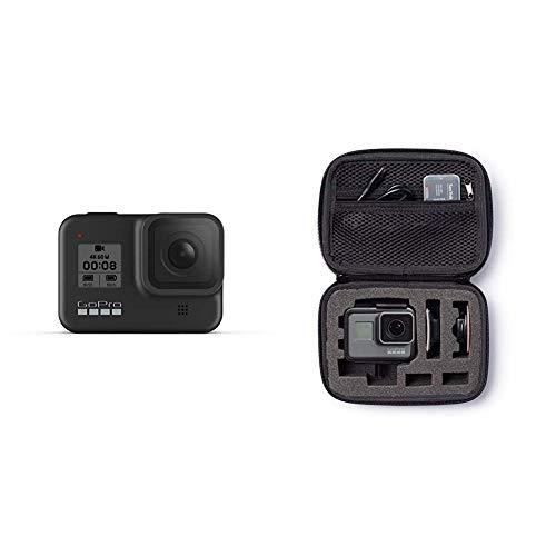 GoPro HERO8 Black - wasserdichte 4K-Digitalkamera mit Hypersmooth-Stabilisierung, Touchscreen und Sprachsteuerung - Live-HD-Streaming & Amazon Basics Tragetasche für GoPro Actionkameras, Gr. XS