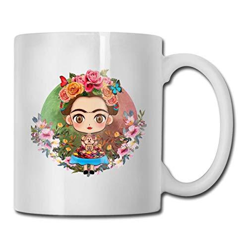 N\A Welerony Home Coffee Mug Frida Kahlo Drawing Interesante Taza de 330ml Taza de café de cerámica Taza de té