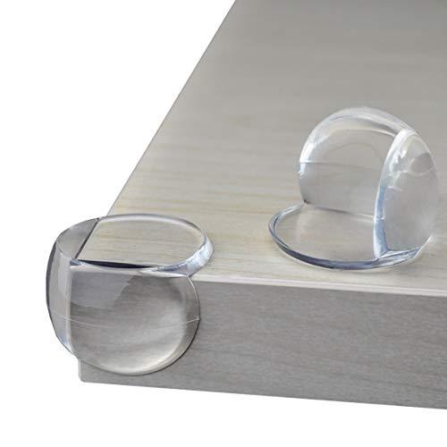 FOKS Kantenschutz Baby [24er Set] starke Klebekraft für mehr Sicherheit im Haushalt - Eckenschutz Baby - extra weich für Tisch & Möbel Ecken - Transparent