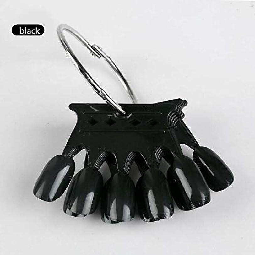 そのようなアラート船形10pcs Black Crown Shaped Nail Art Display Tips False Nail Tips Fake Palette Acrylic UV Gel Polish Manicure Practice Training Tools