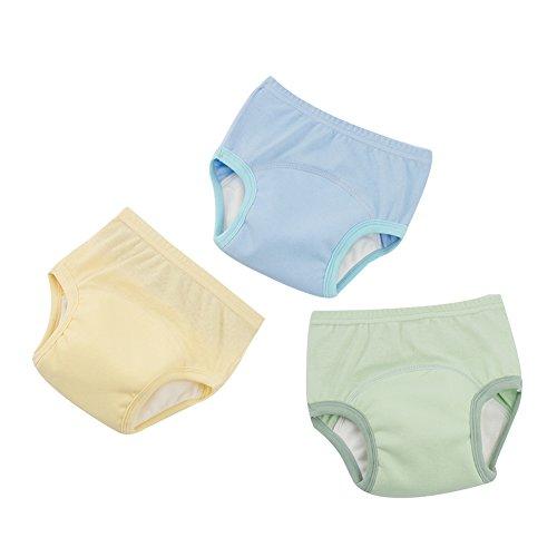 G-Kids 3PCS Baby Mädchen Jungen Trainerhosen Training Pants Windelhöschen Unterhose Waschbare Lernwindel Töpfchentraining, A, 86-92