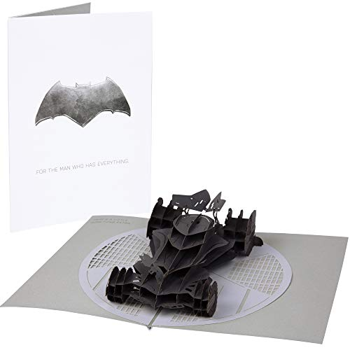 DC Comics Batman Batmobile Pop-Up Card - Deluxe Handcrafted Pop Up Card - For the Man Who Has Everything - Blank Inside - 5 x 7 inches (Оne Расk)