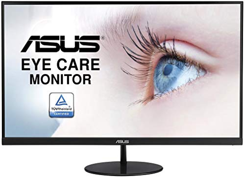 ASUS VL278H 27 Inch FHD (1920 x 1080) Gaming Monitor, Frameless, 1 ms, Up to 75 Hz, HDMI, D-Sub, Low Blue Light, Flicker Free, TUV Certified