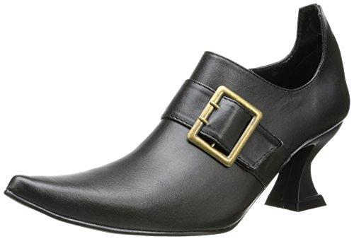Ellie Shoes Women's 301 Hazel Witch Shoe, Black Polyurethane, 10 M US