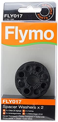 Flymo FLY017 - Lotto di 2 dischi per tosaerba, a cuscino d'aria