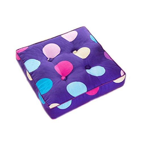 Cojines KKY-Enter Almohadón de Silla Almohadón de Silla de Comedor Espesor de púrpura Puntos de Amortiguador Cuadrado Tamaño: 50 * 50cm