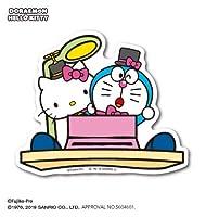 ドラえもん×ハローキティ タイムマシン サンリオコラボ ステッカー LCS825 キャラクター ライセンス商品