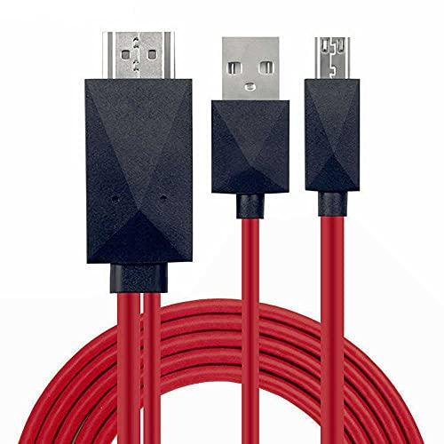 OcioDual Cable MHL de Micro USB 11 Pin Pines a HDMI TV Adaptador Convertidor para Samsung Galaxy S3/S4 Note 2/3/4 Tab S