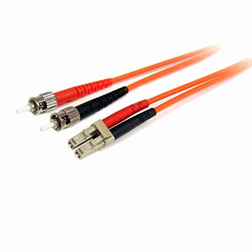 StarTech.com 2m Multimode 62,5/125 Duplex LC auf ST LWL / Glasfaserkabel