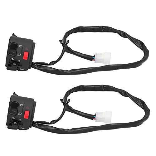 Socobeta Interruptor de faro de motocicleta, aplicaciones amplias ABS y aleación de aluminio controlador de señal de giro fácil instalación para motor Accessary para conducir