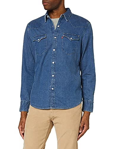 Levi's Barstow Western Standard Camisa, Flat Stone Light, M