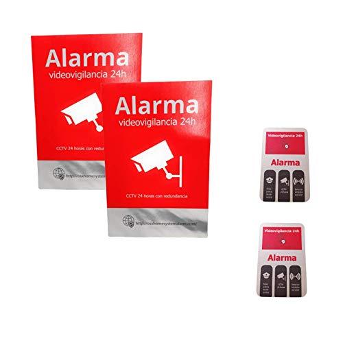Pegatinas de alarma (4 unidades)
